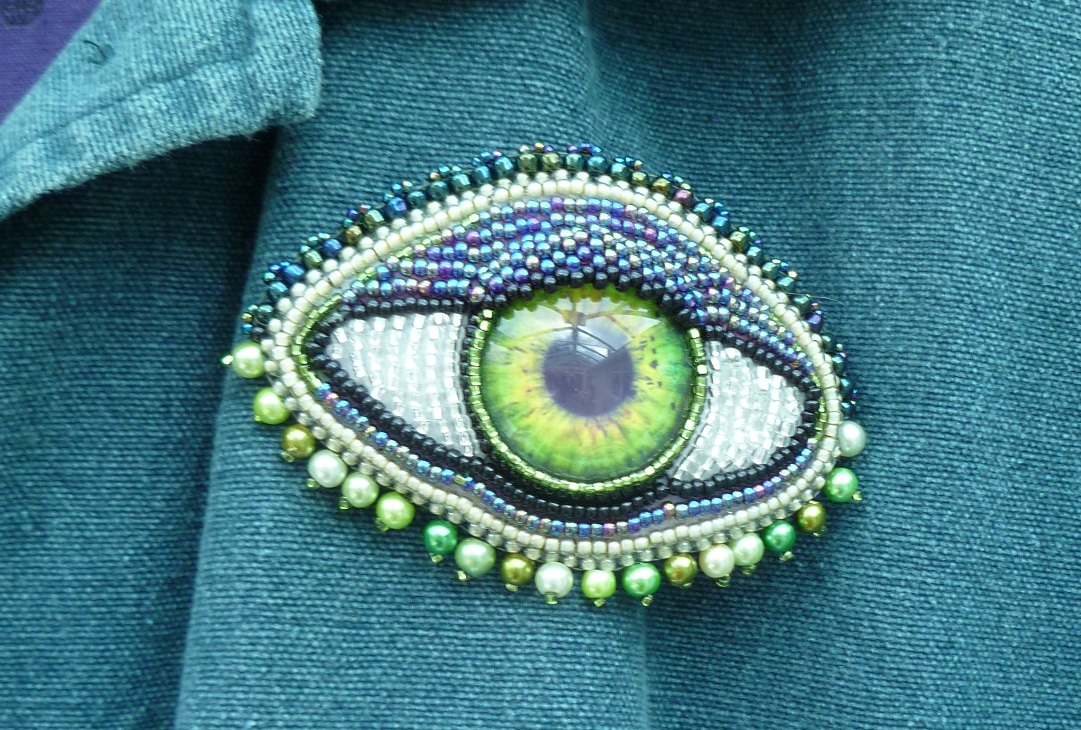 green 'eye' brooch